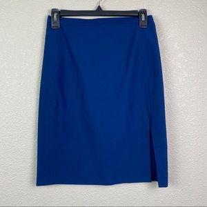 Blumarine 42 Italy/6 US Navy Blue Pencil Skirt